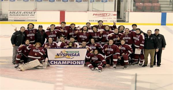 Varsity Hockey wins Sectional Crown!