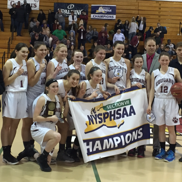 Girl's Varsity Basketball team win Title!