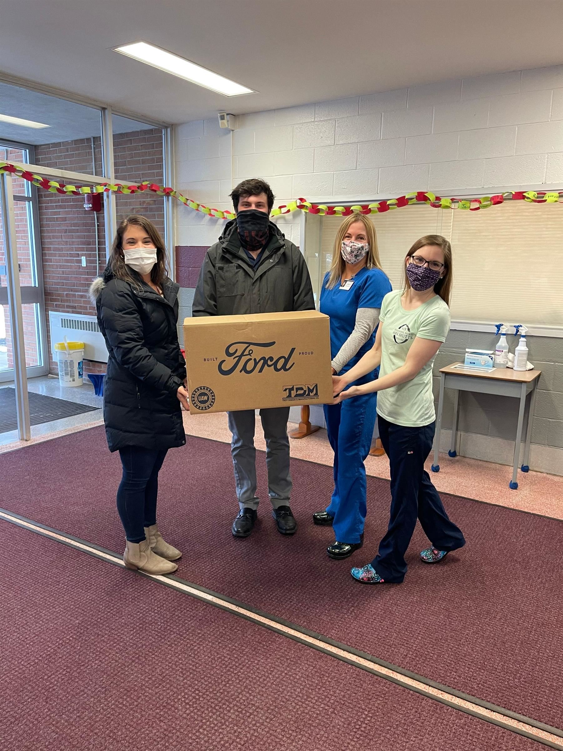 Riley Ford donates PPE to the Northeastern Clinton Central School District